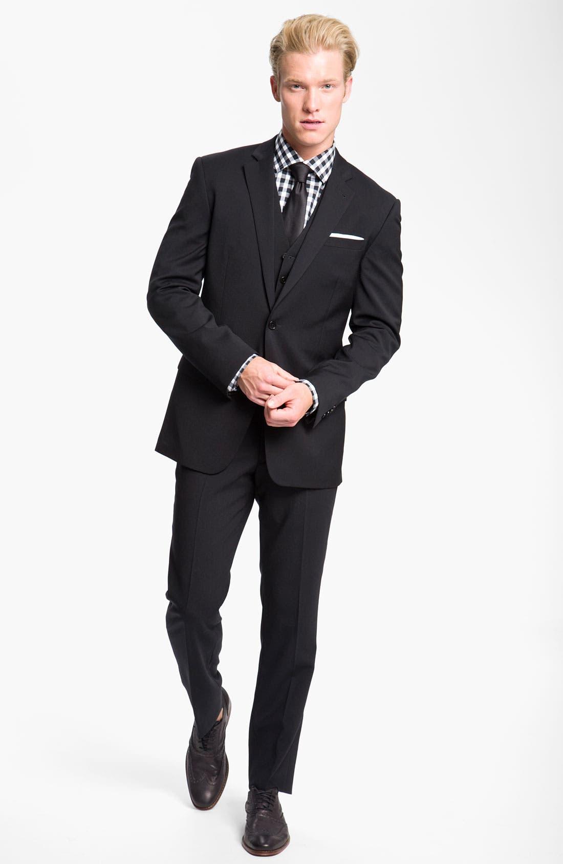 Alternate Image 6  - John Varvatos Star USA Wool Front Vest