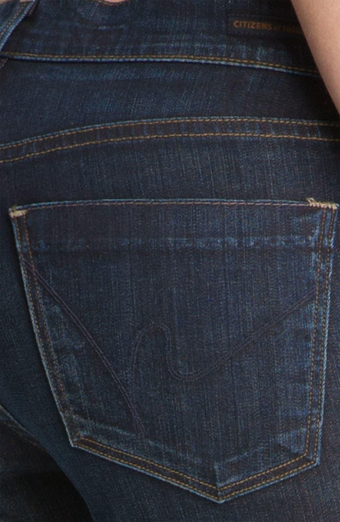 Alternate Image 3  - Citizens of Humanity 'Dita' Bootcut Jeans (Felt Dark Blue) (Petite)