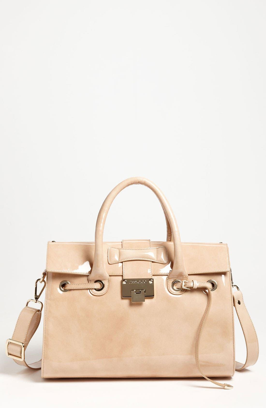 Main Image - Jimmy Choo 'Rosalie' Patent Leather Satchel
