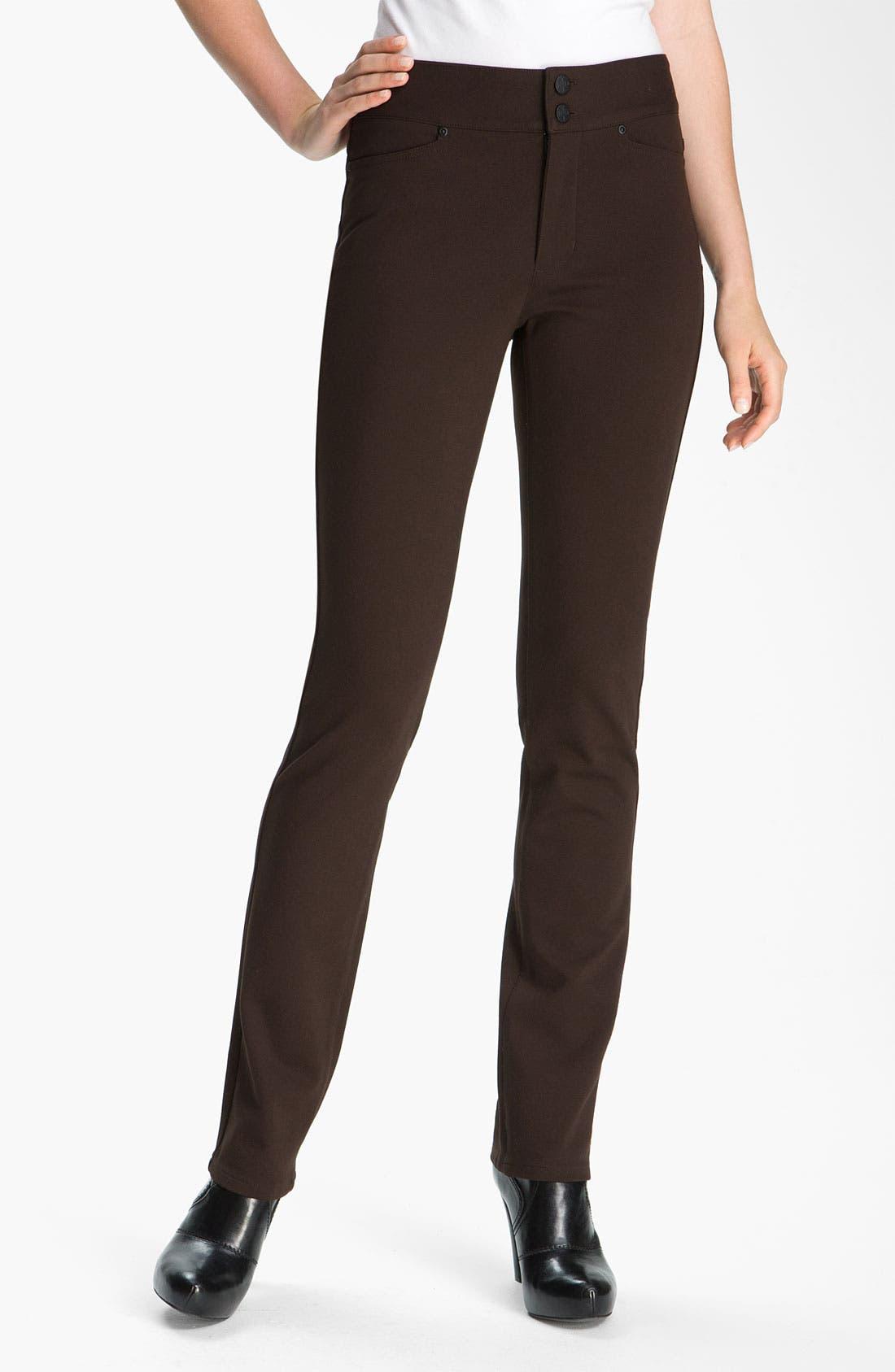 Alternate Image 2  - NYDJ 'Natasha' Skinny Ponte Pants (Petite)