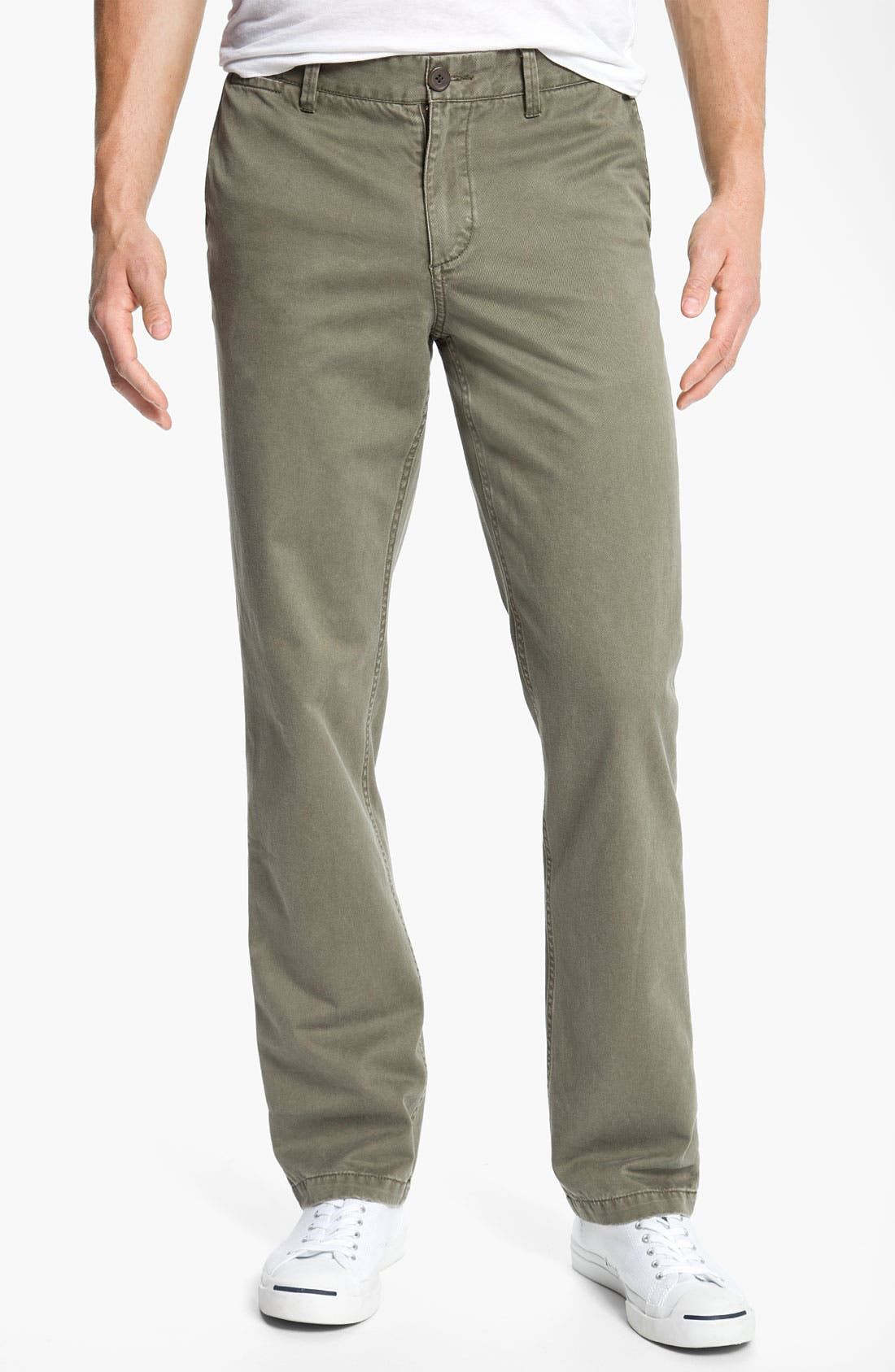 Alternate Image 1 Selected - 1901 Cotton Twill Straight Leg Chinos