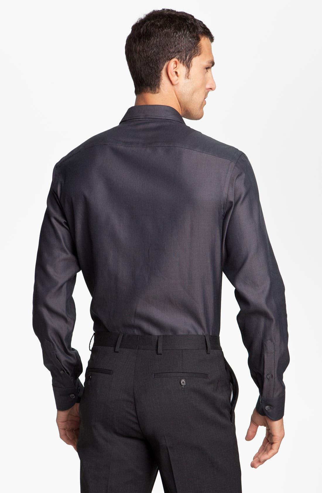 Alternate Image 2  - Armani Collezioni Trim Fit Sport Shirt