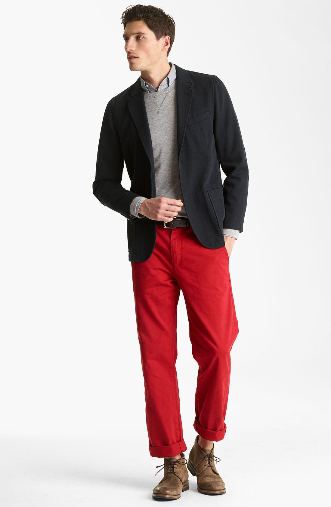 Alternate Image 4  - Jack Spade Dual Layer Sweatshirt