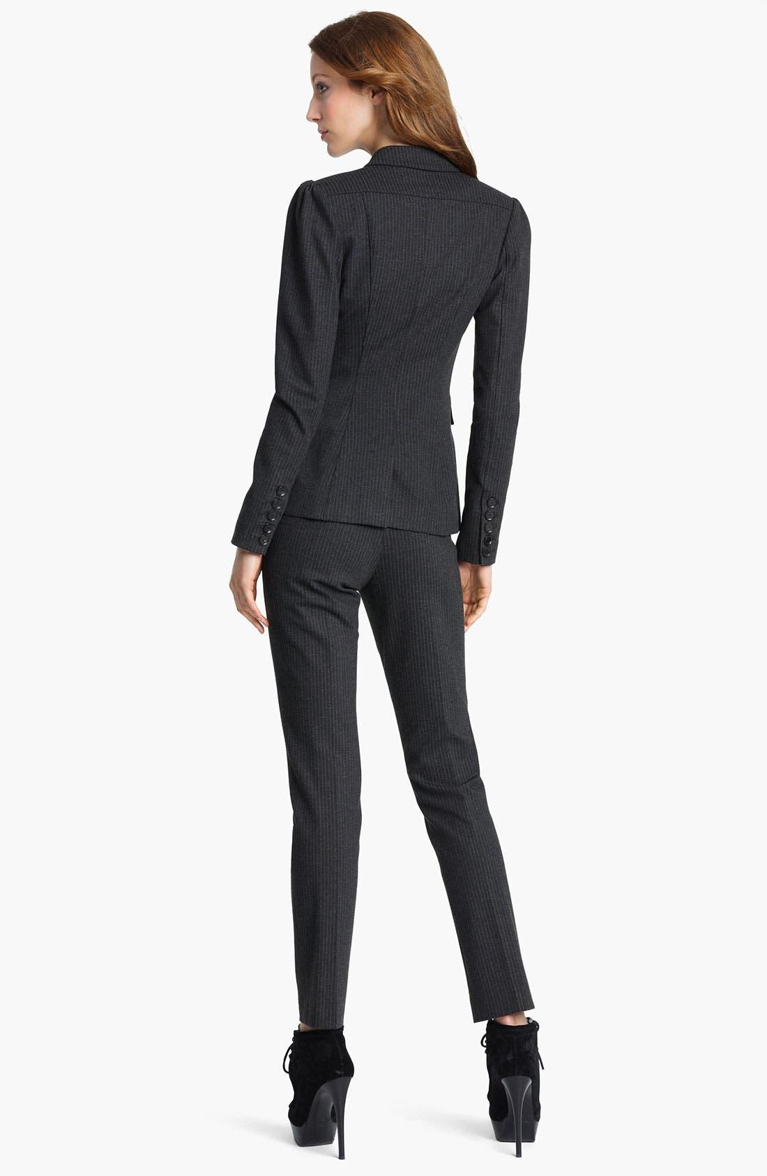 Alternate Image 2  - Burberry London Pinstripe Jacket