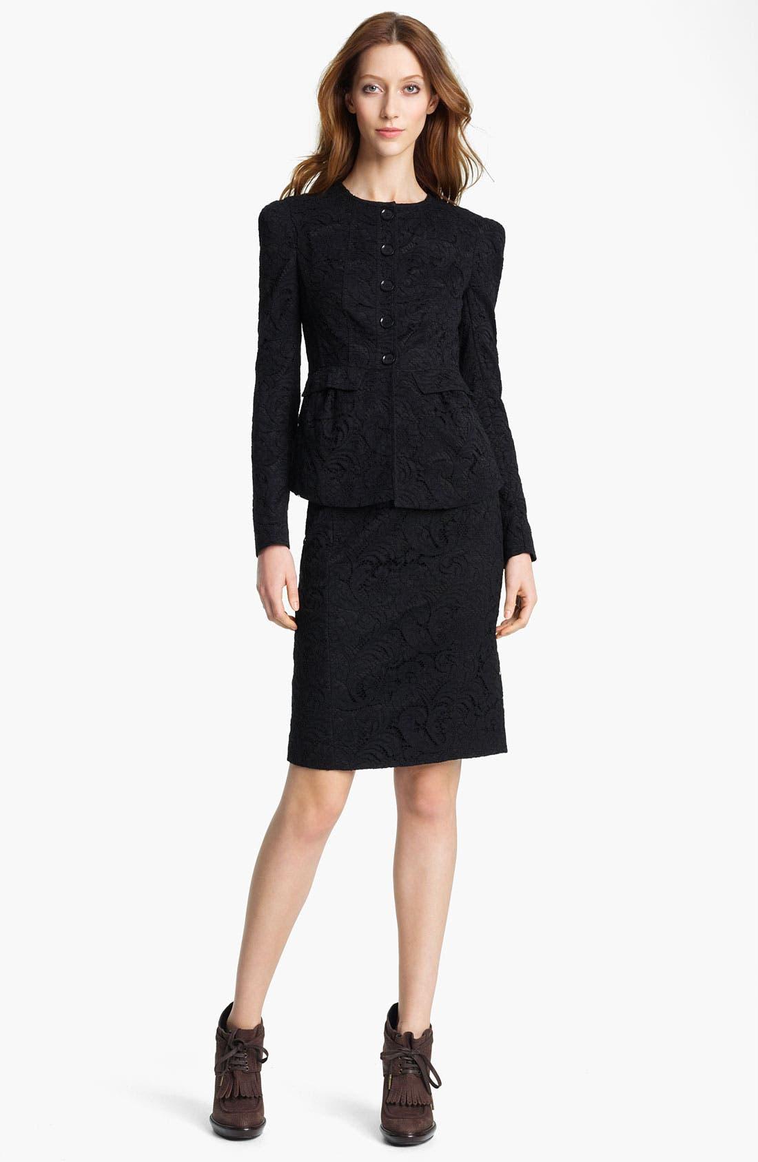 Main Image - Burberry London Lace Jacket