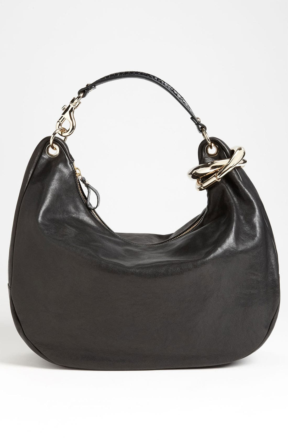 Alternate Image 4  - Jimmy Choo 'Large Solar Calf' Leather Hobo
