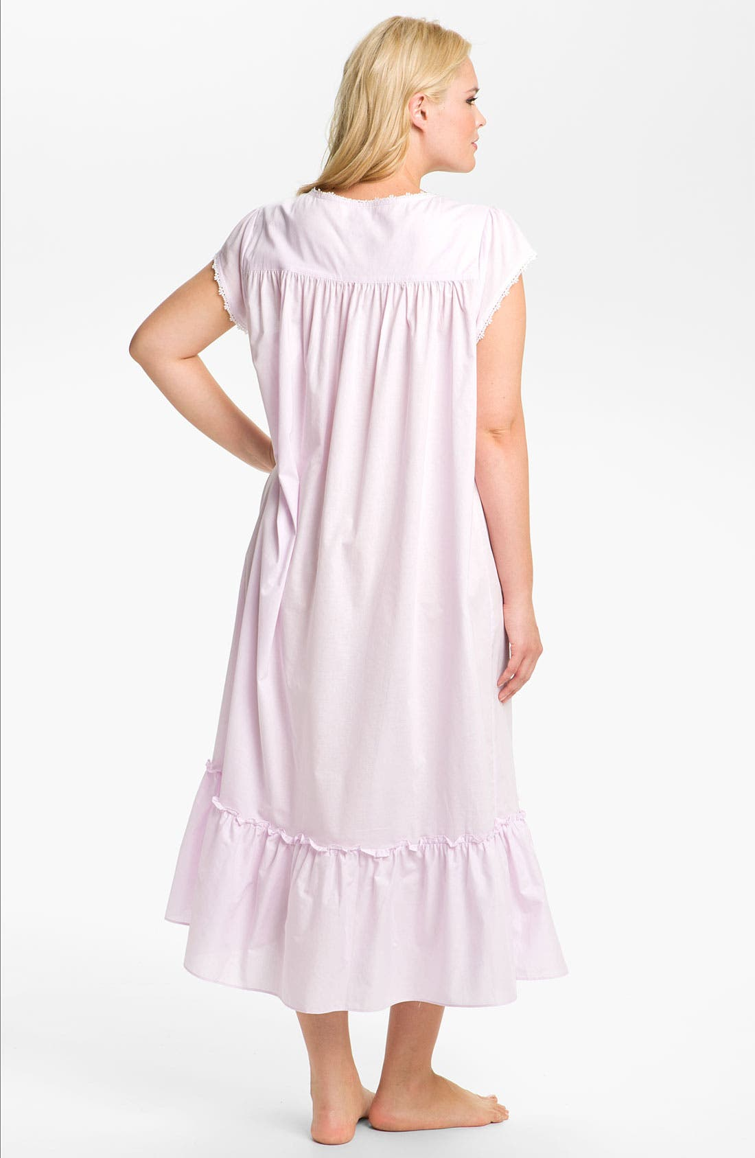 Alternate Image 2  - Eileen West 'Blossom' Nightgown (Plus)