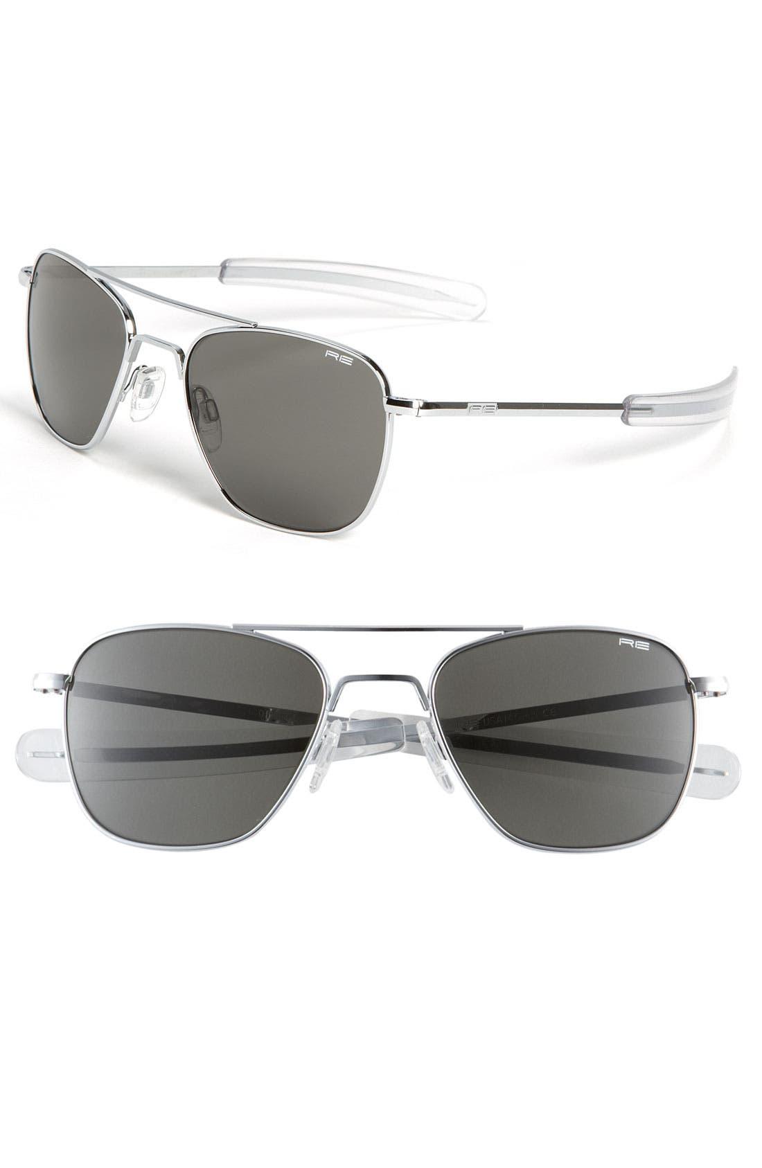 Main Image - Randolph Engineering 55mm Aviator Sunglasses