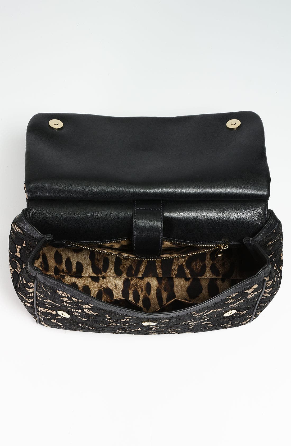 Alternate Image 3  - Dolce&Gabbana 'Miss Sicily' Leather & Lace Satchel