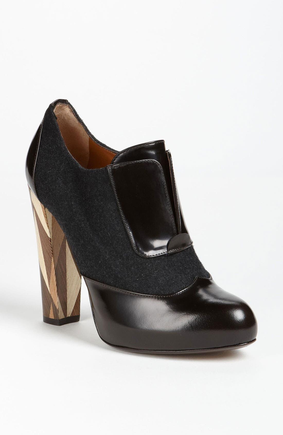 Main Image - Fendi 'Wuthering Heights' Wood Heel Bootie
