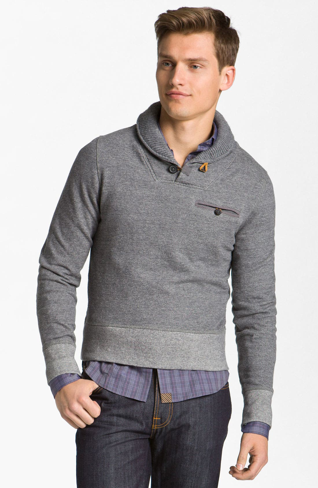 Alternate Image 1 Selected - Billy Reid 'Shiloh' Shawl Collar Pullover