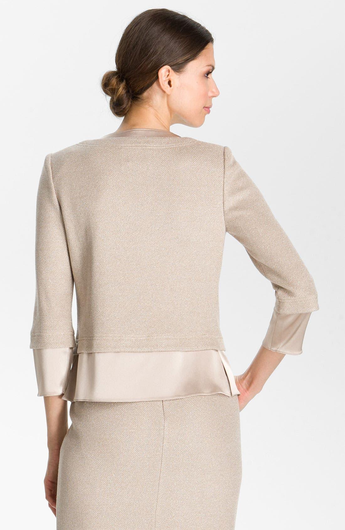 Alternate Image 3  - St. John Collection Fitted Shimmer Knit Jacket