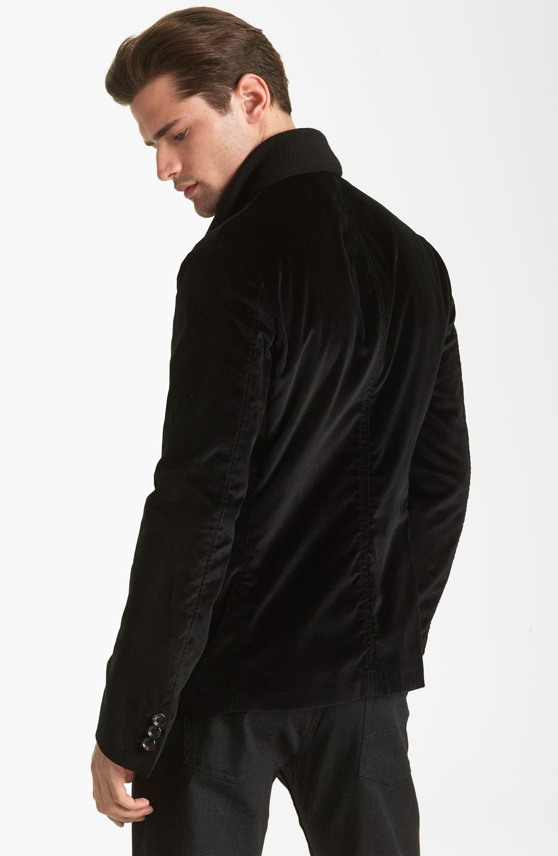 Alternate Image 2  - Armani Collezioni Velvet Jacket