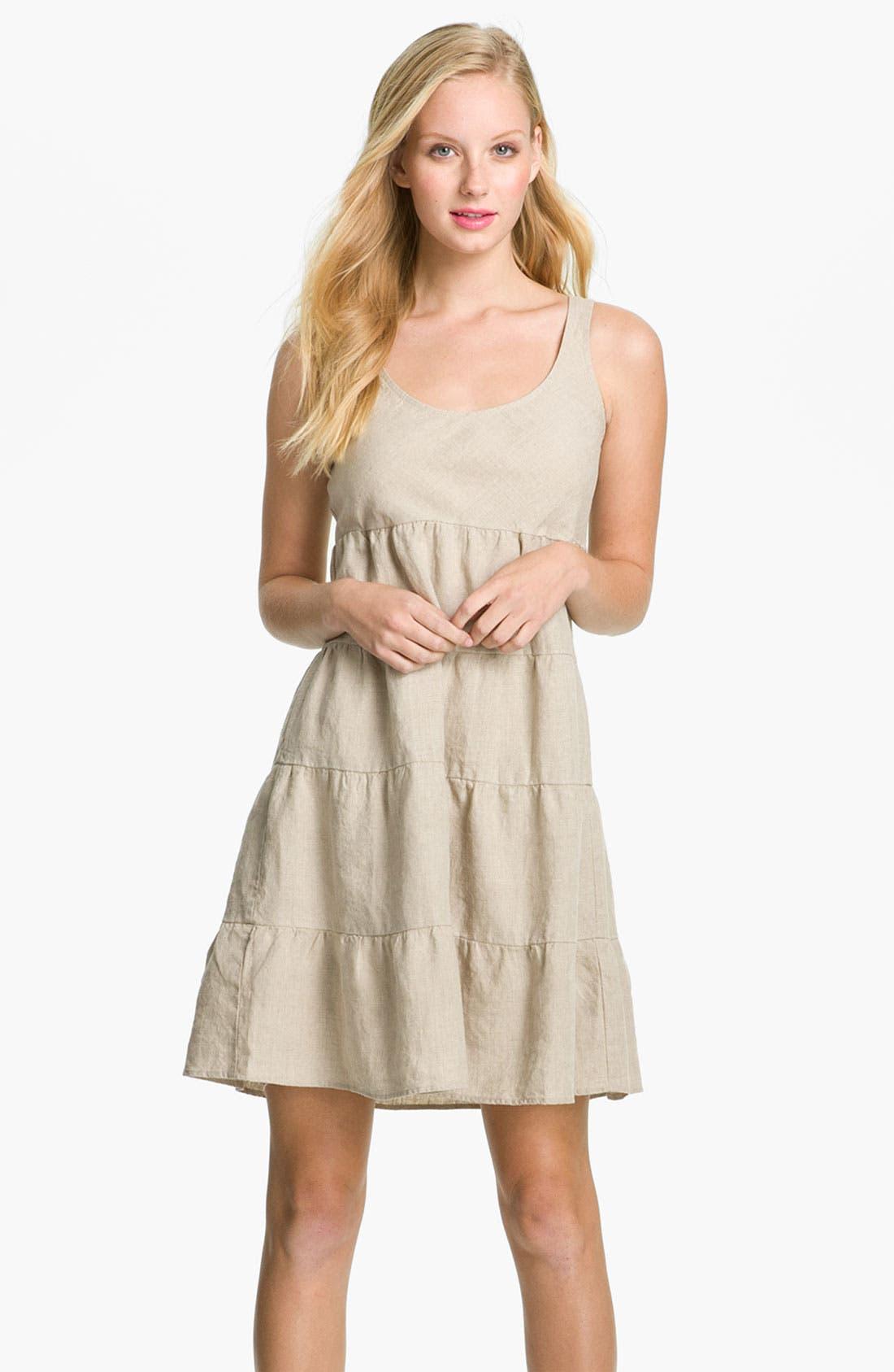 Alternate Image 1 Selected - Allen Allen Linen Dress