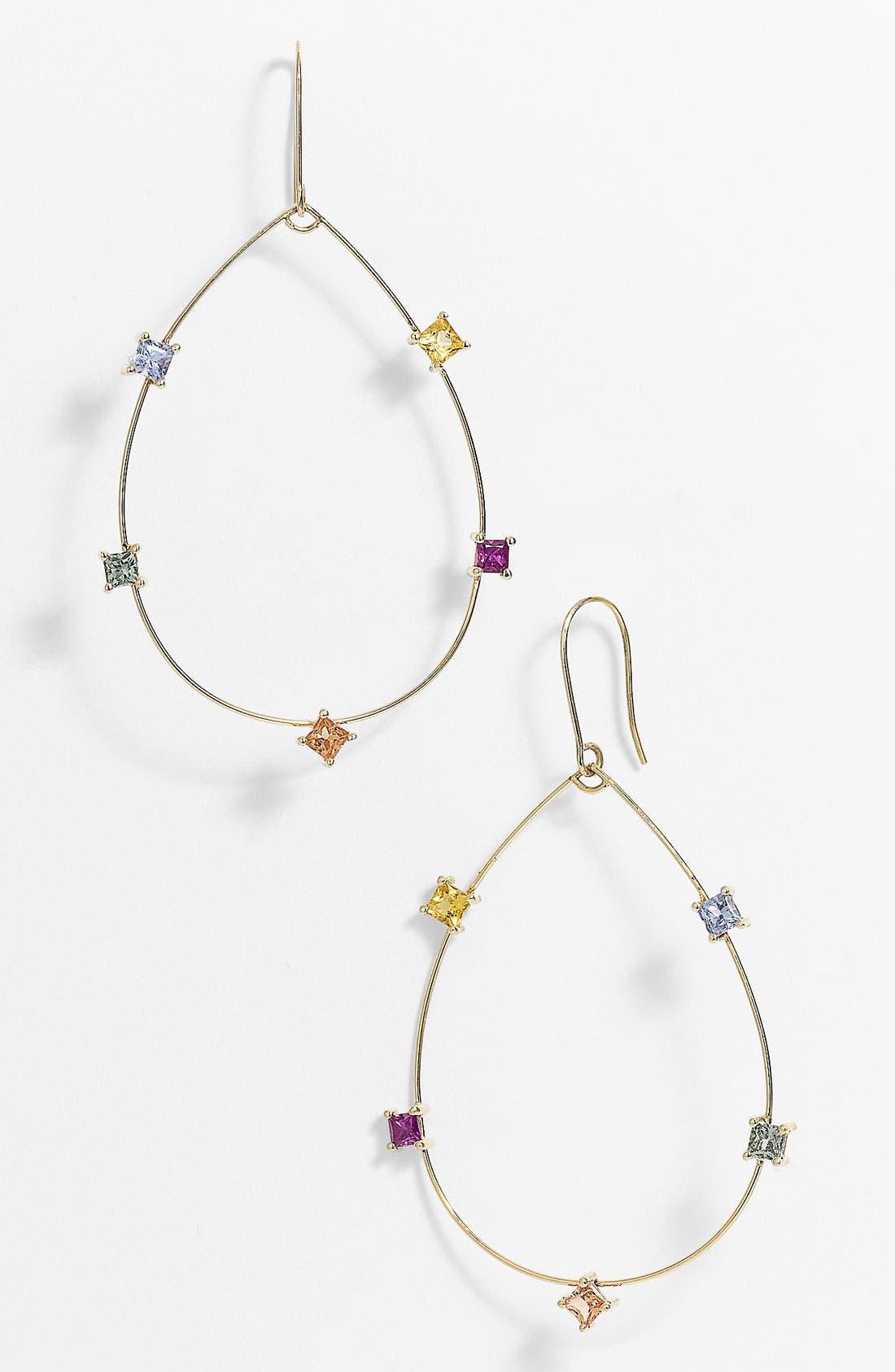 Alternate Image 1 Selected - Lana Jewelry Small Ombré Hoop Drop Earrings