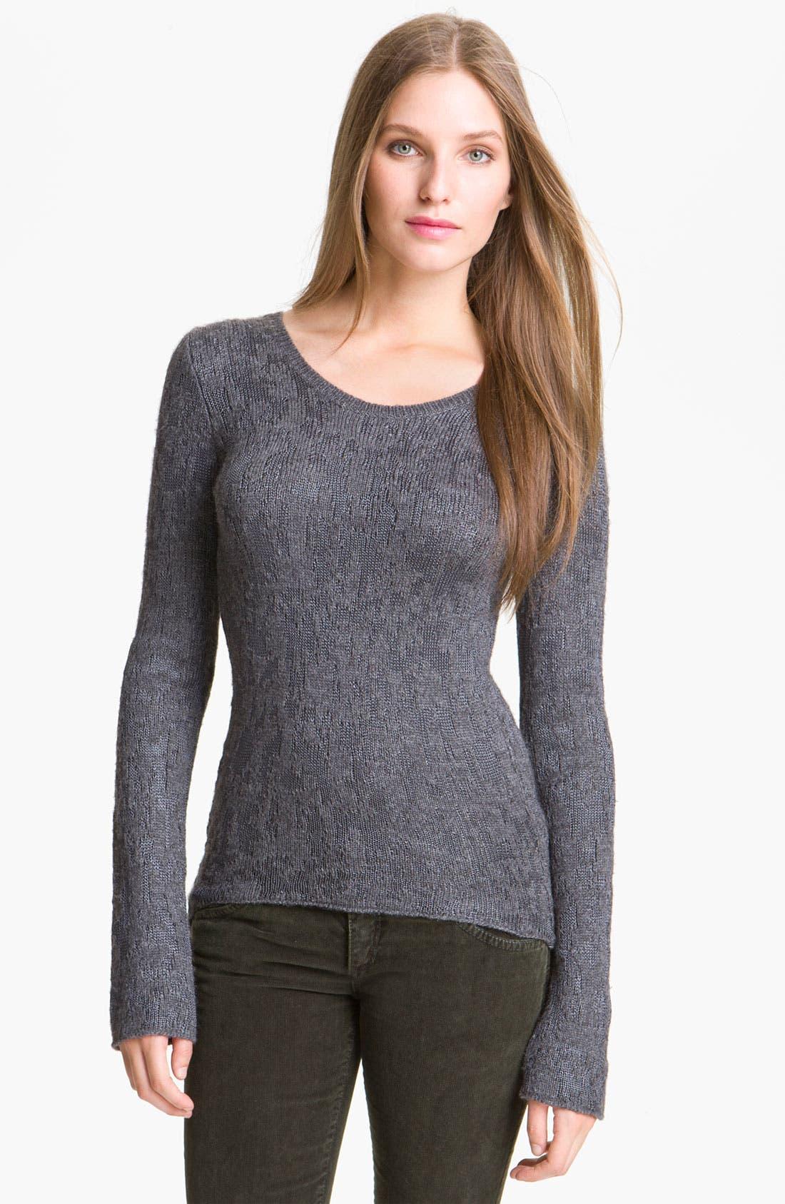 Main Image - Theyskens' Theory 'Knupa B Yeuna' Jacquard Knit Pullover