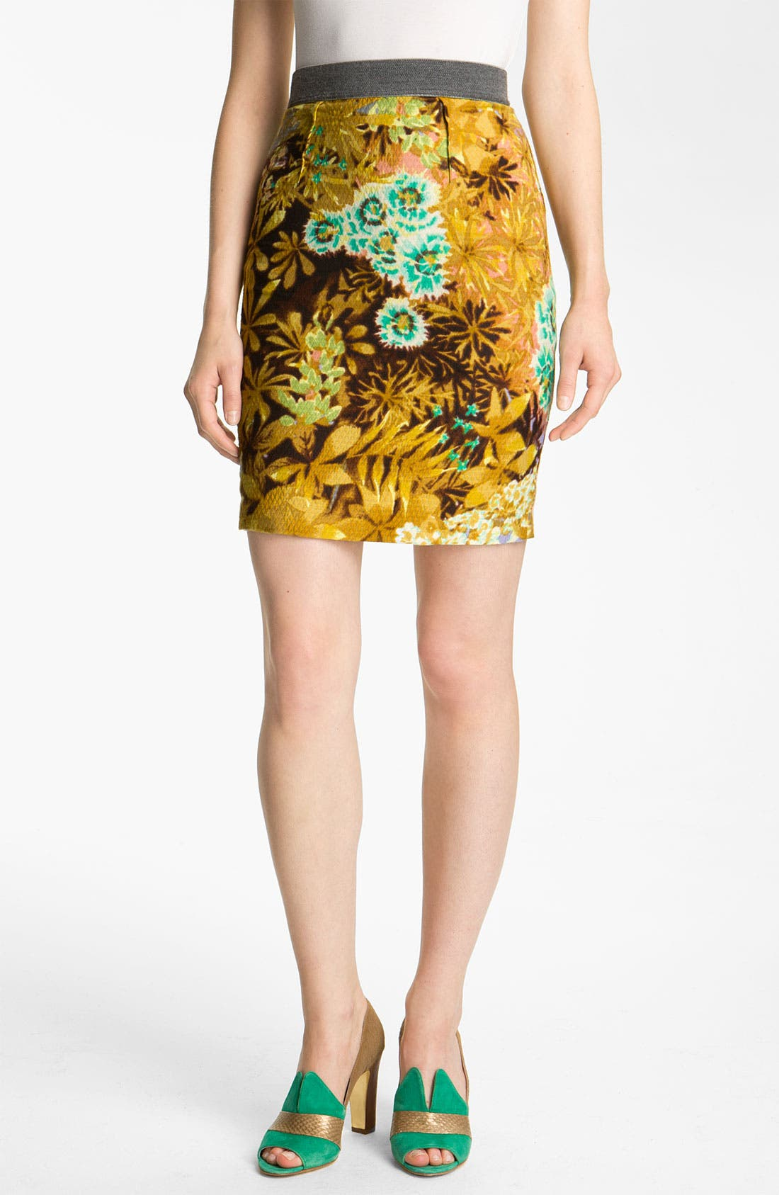 Alternate Image 1 Selected - Tracy Reese Floral Print Narrow Skirt