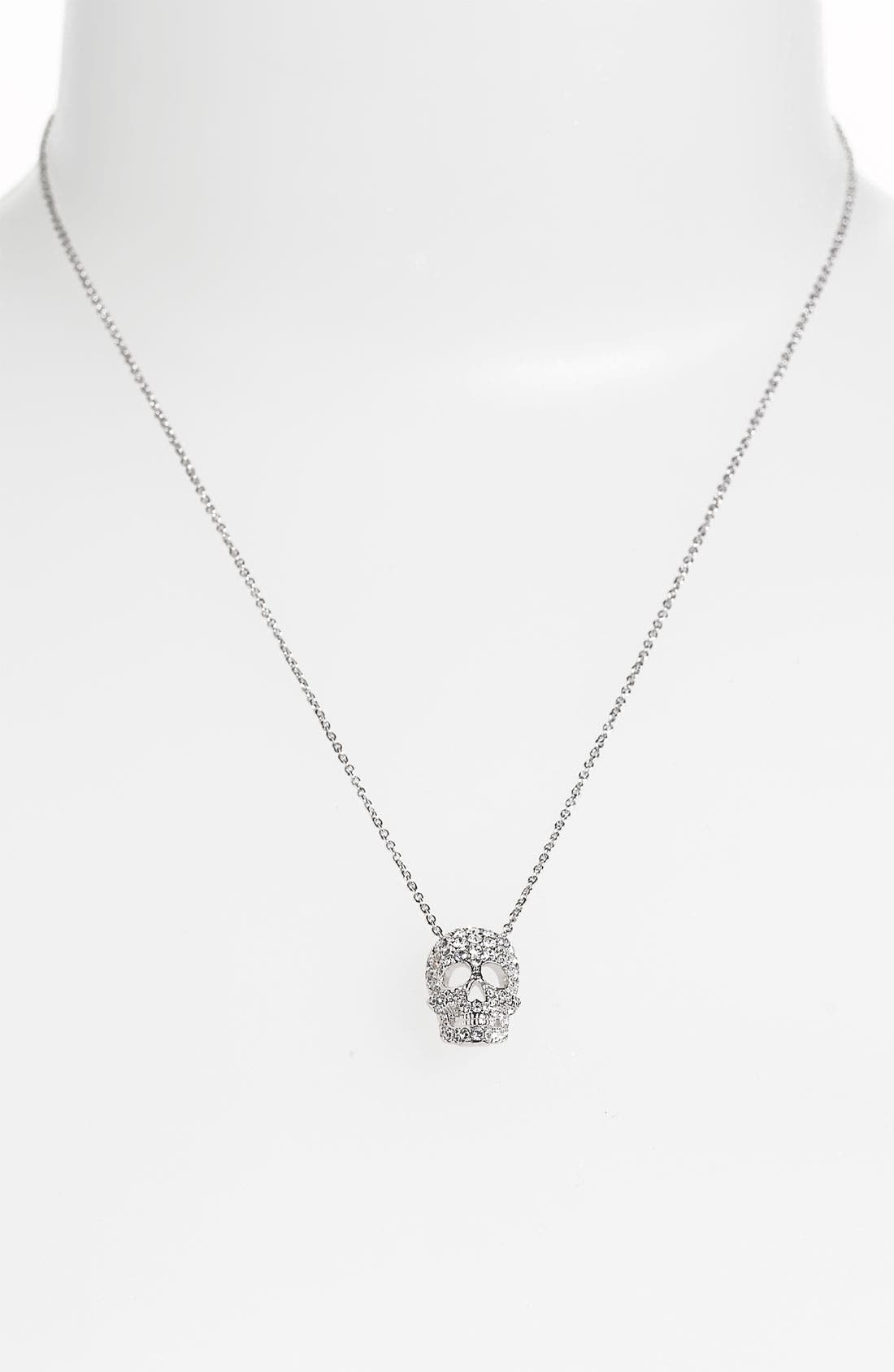 Alternate Image 2  - Nadri 'Skull' Pendant Necklace (Nordstrom Exclusive)