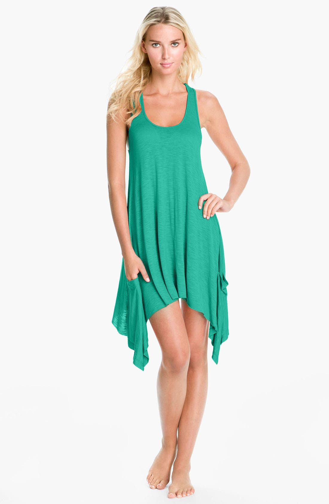 Alternate Image 1 Selected - Elan 'Handkerchief' Cover-Up Dress