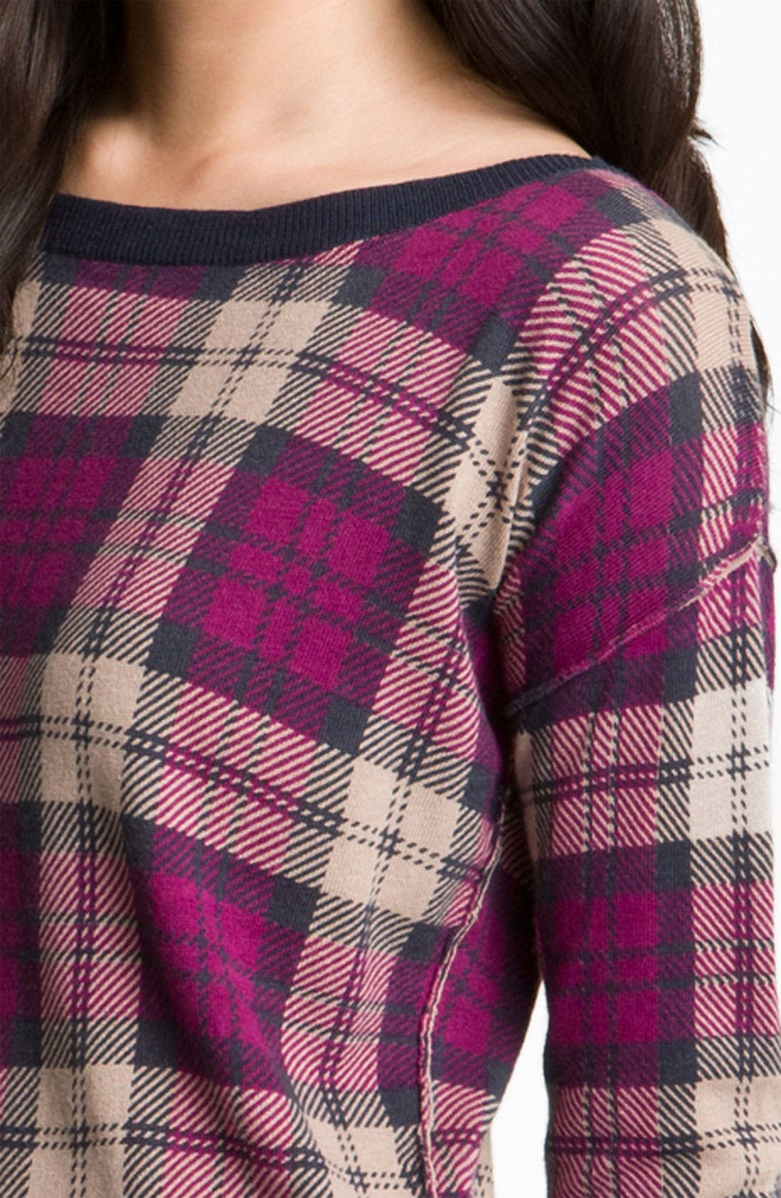 Alternate Image 3  - Trouvé Plaid Tunic Sweater