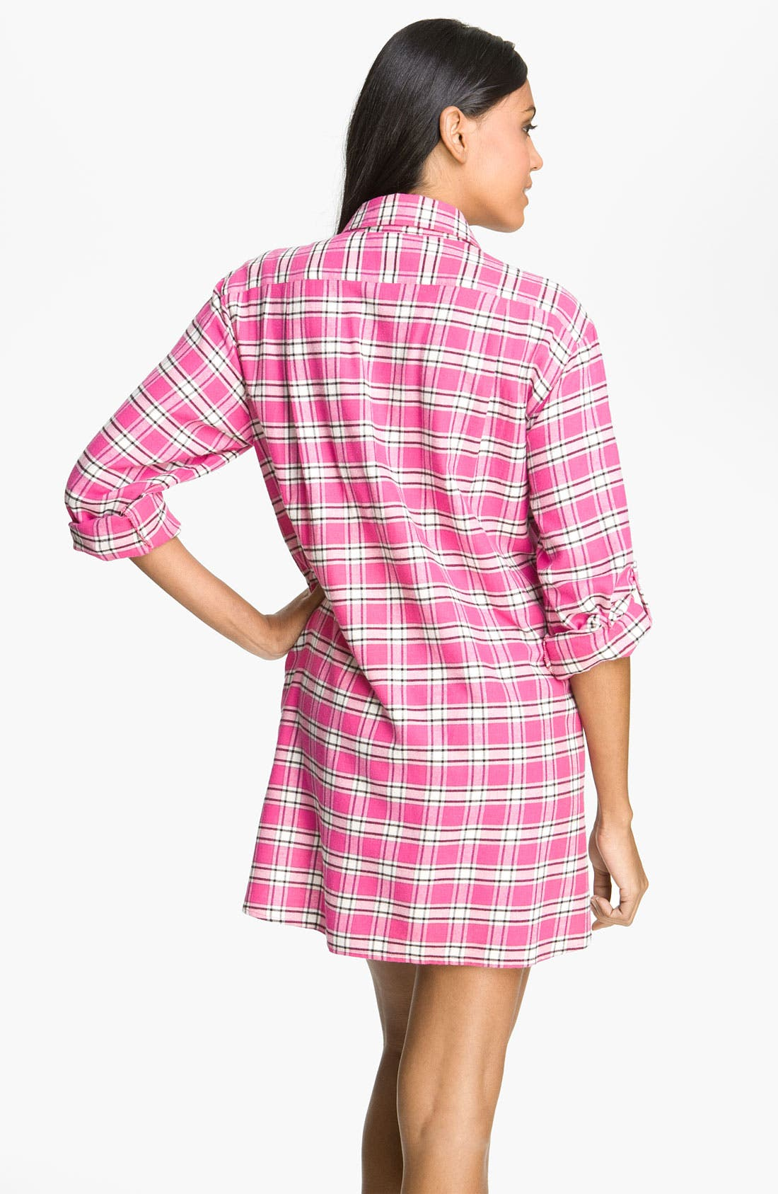 Alternate Image 2  - DKNY 'Pattern Play' Flannel Night Shirt
