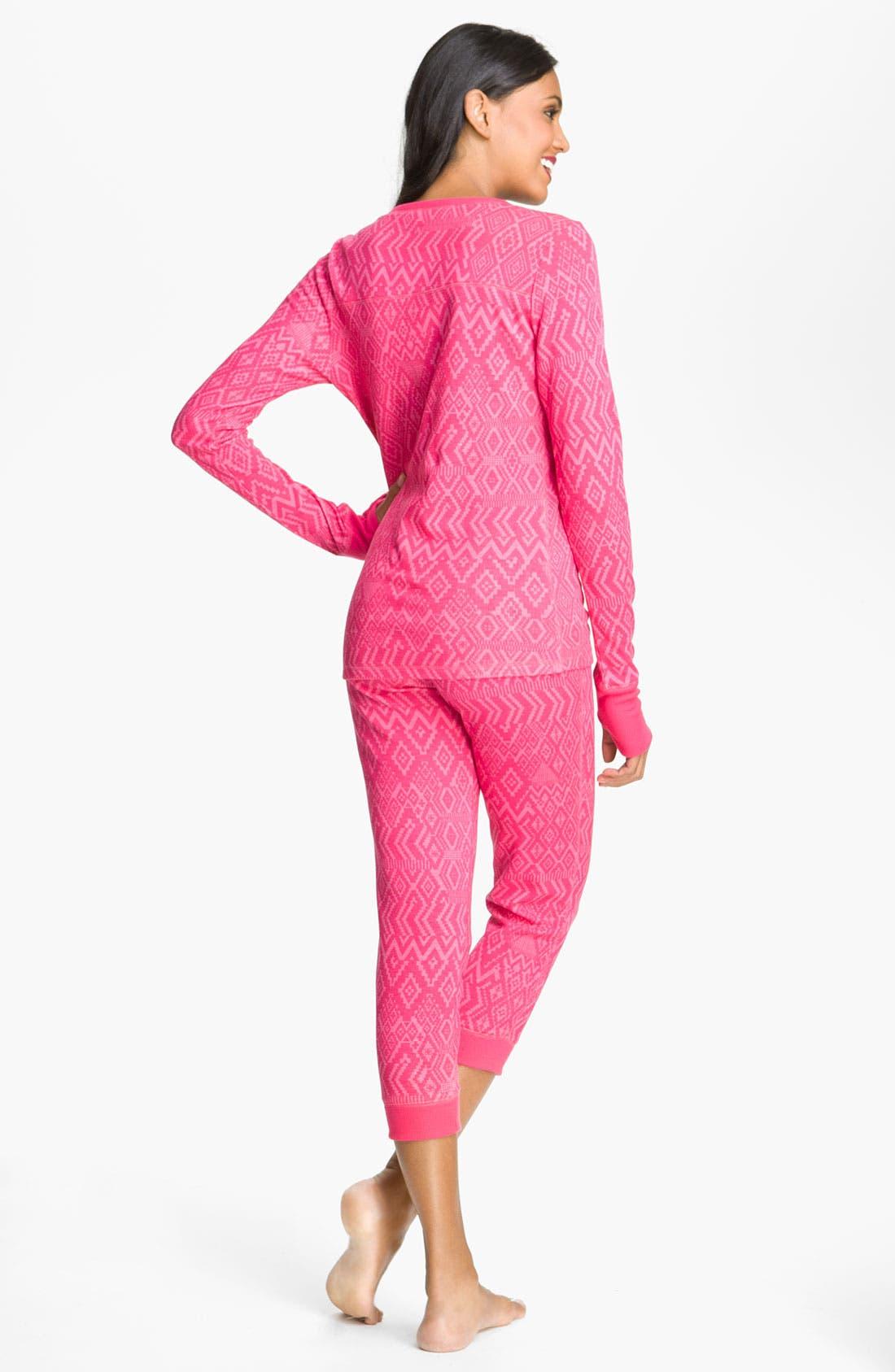 Alternate Image 2  - Steve Madden Thermal Knit Pajamas