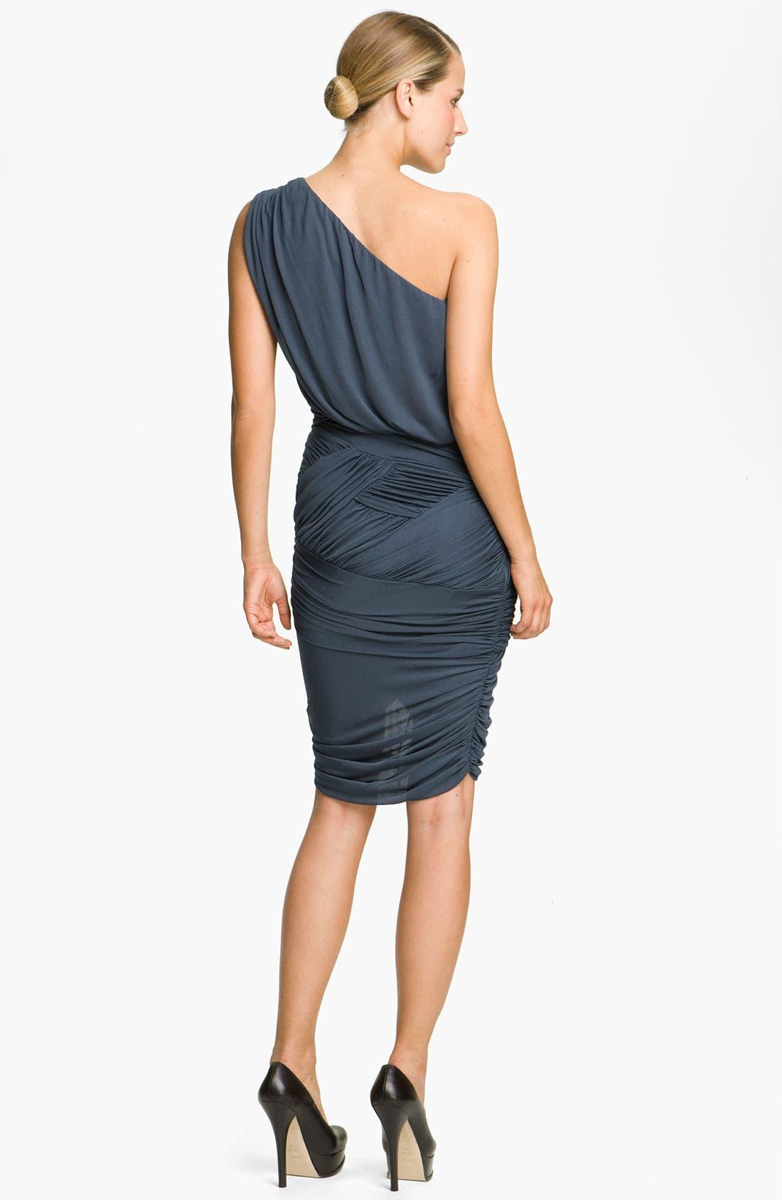 Alternate Image 2  - Halston Heritage Dresses Draped One Shoulder Dress