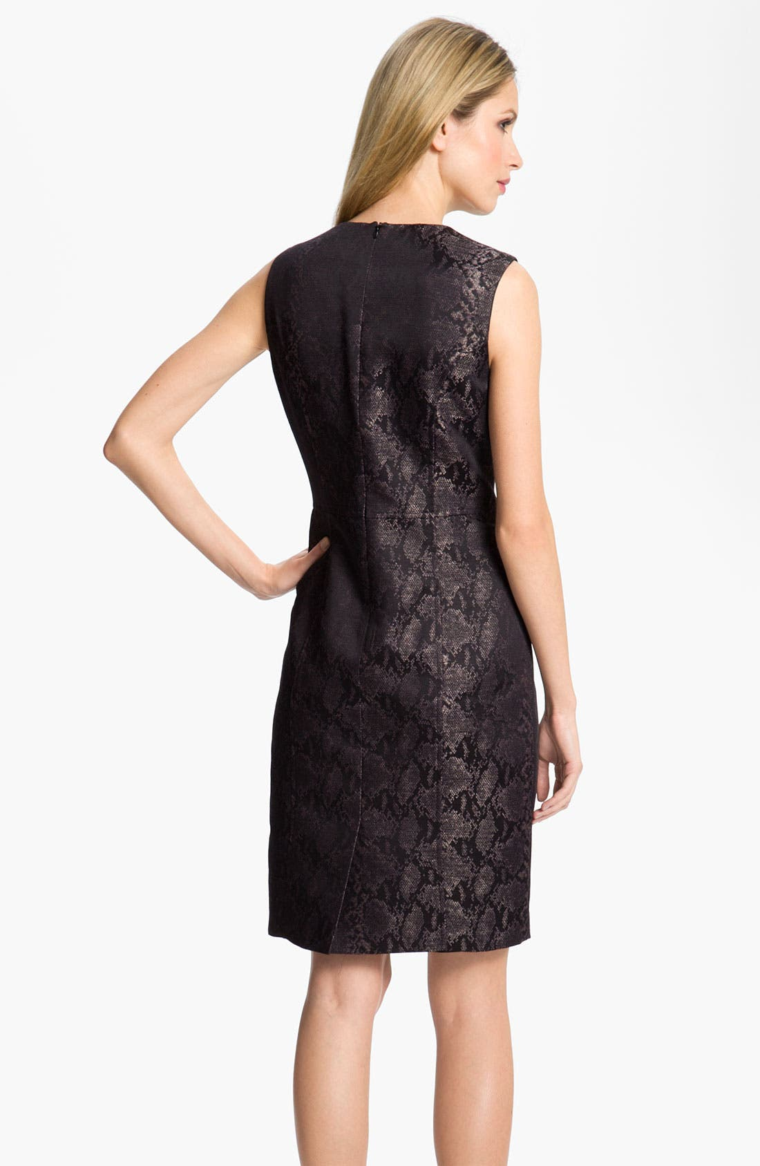 Alternate Image 2  - Louben Python Jacquard Sheath Dress