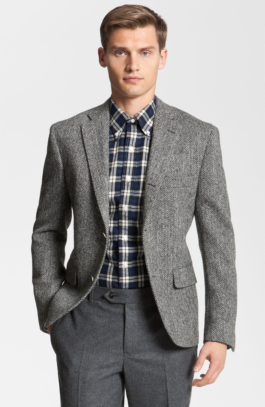 Main Image - Brooks Brothers by Jeffrey Tweed Herringbone Blazer