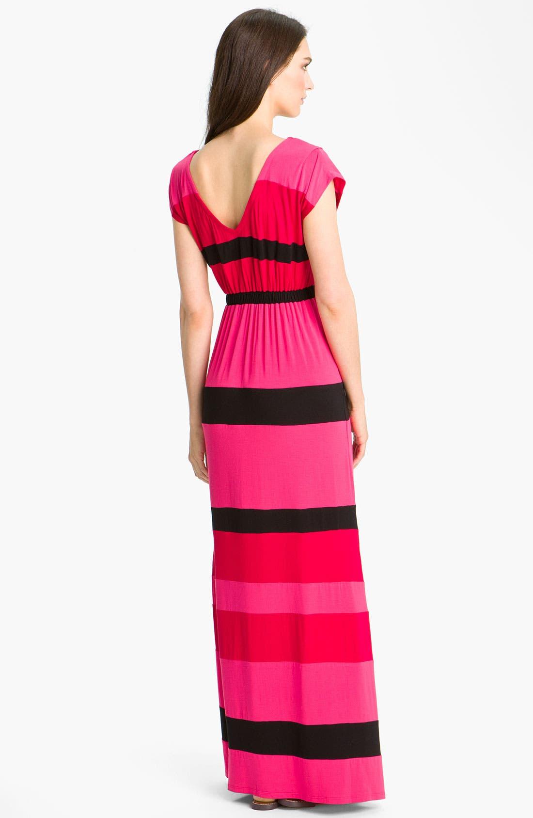 Alternate Image 2  - Current Affair Stripe V-Neck Maxi Dress