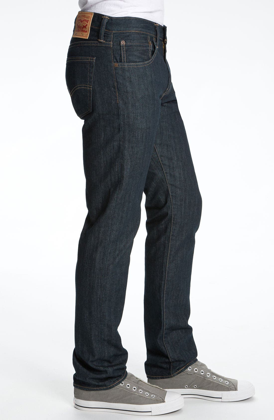 Alternate Image 3  - Levi's® '513™' Slim Straight Leg Jeans (Rumpled Rigid)