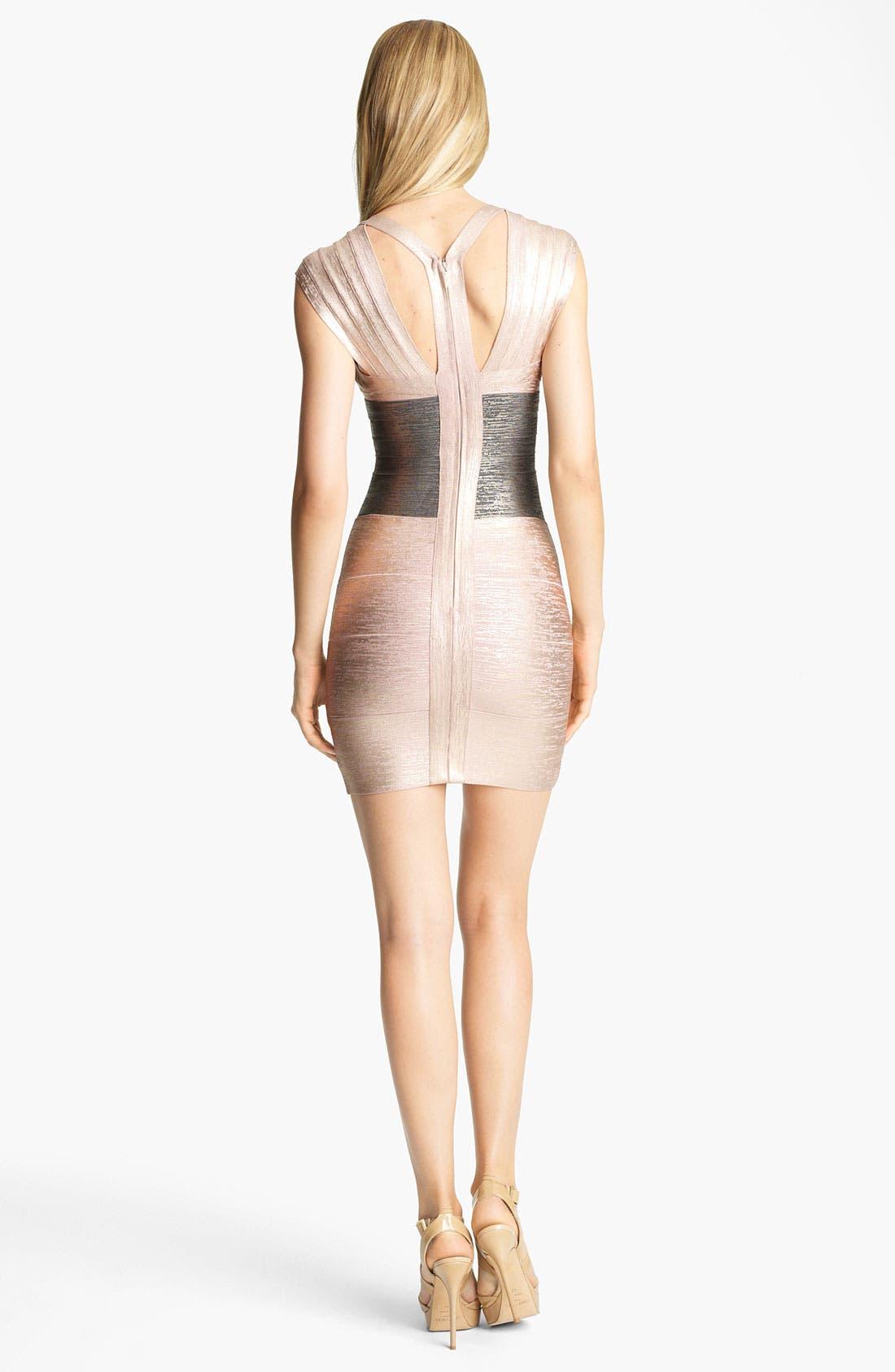 Alternate Image 2  - Herve Leger Foil Bandage Dress