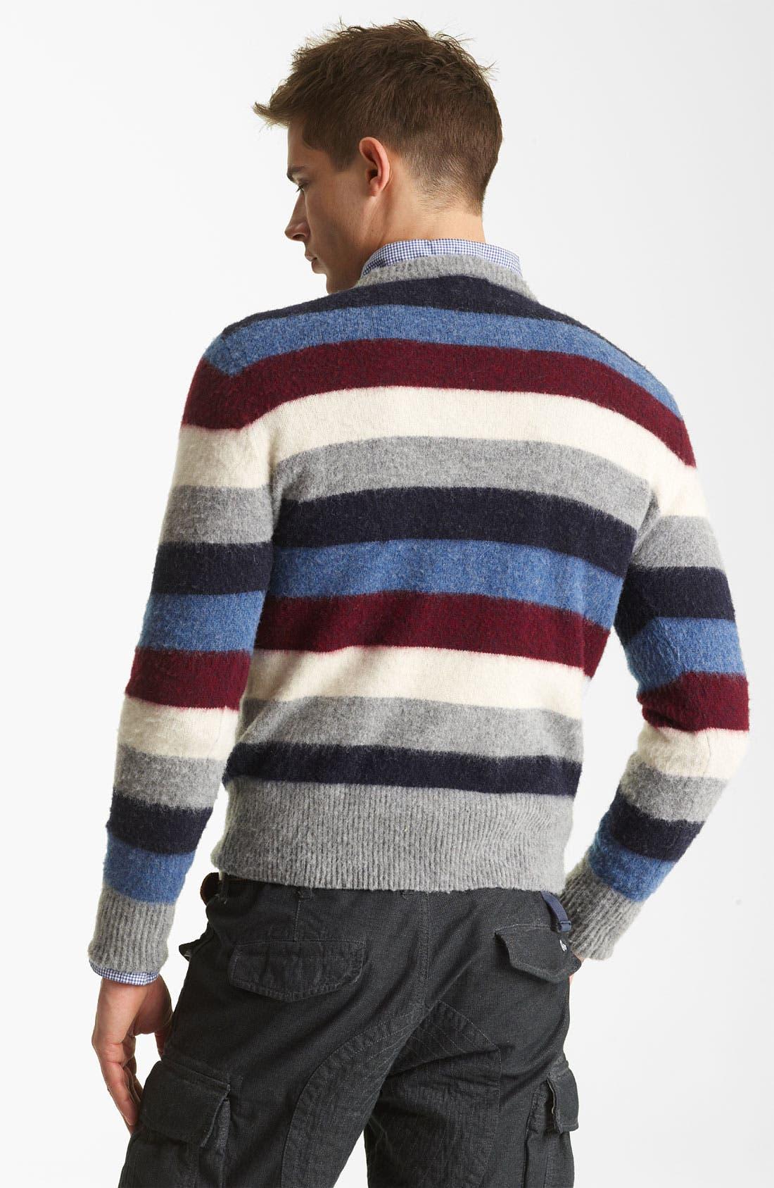 Alternate Image 2  - Gant by Michael Bastian Stripe Wool Sweater