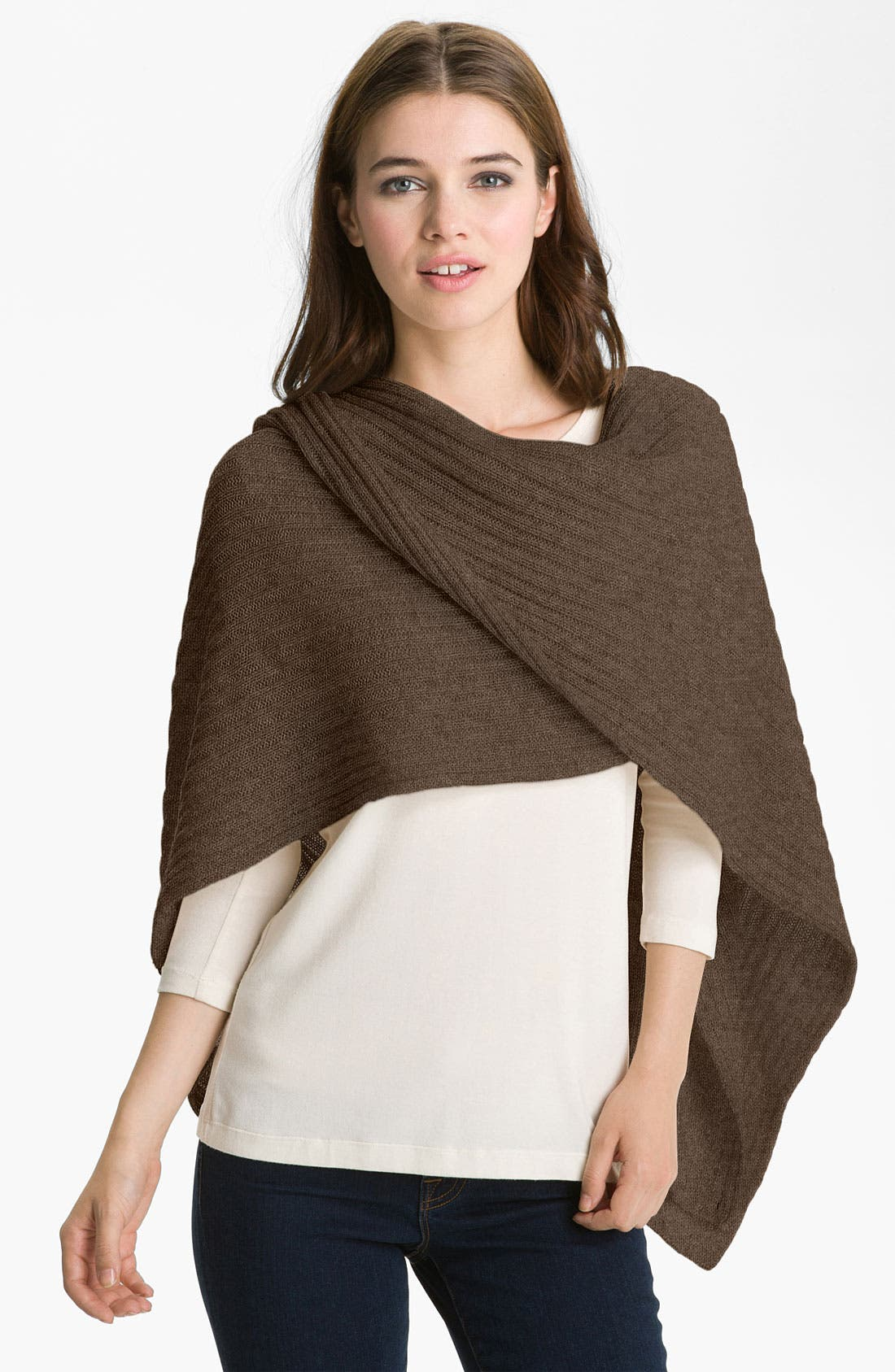 Alternate Image 1 Selected - Nordstrom Collection Ribbed Cashmere Wrap