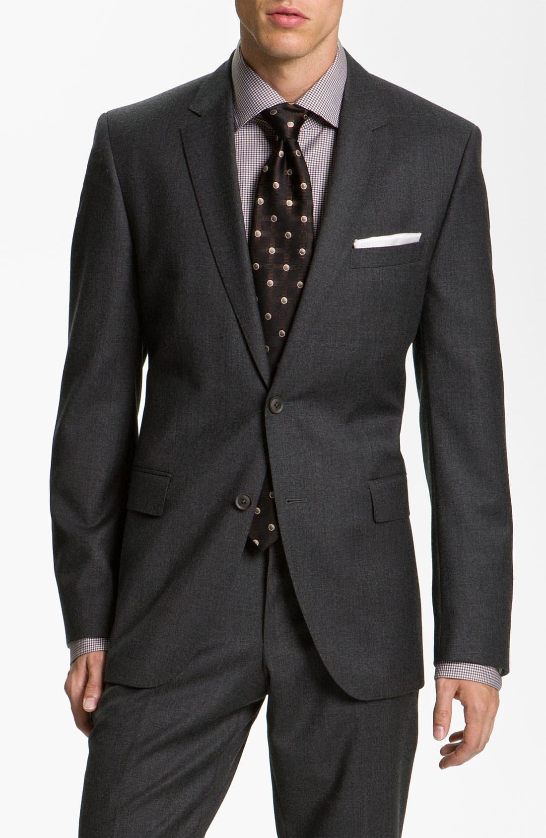 Main Image - BOSS Black 'Key/Shaft' Trim Fit Suit