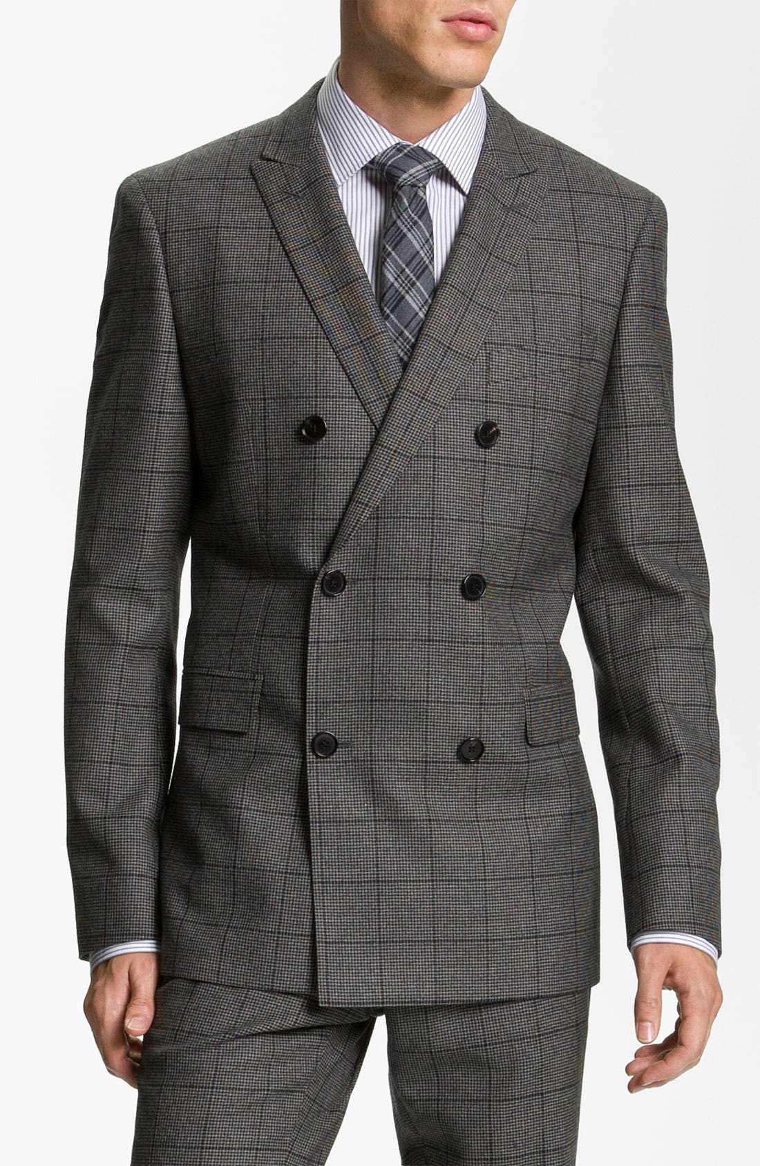 Main Image - BOSS Black Extra Trim Fit Double Breasted Suit