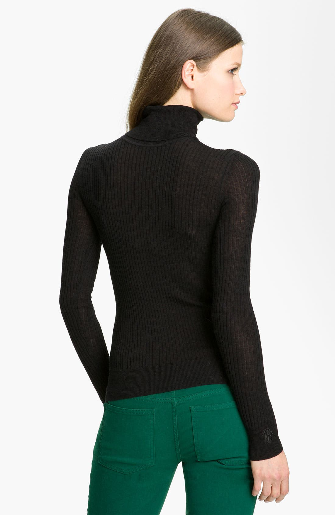 Alternate Image 2  - Tory Burch 'Antonia' Zip Turtleneck