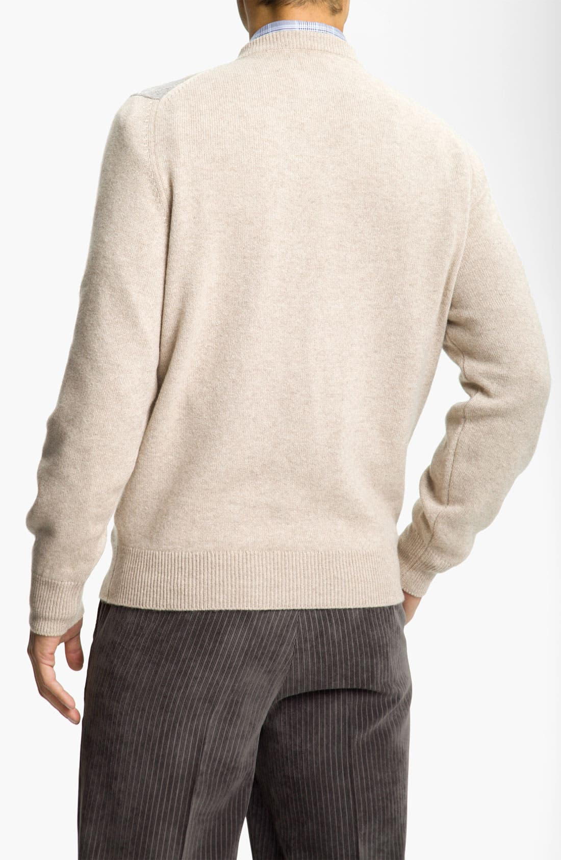 Alternate Image 2  - MacAlan Argyle Front Cashmere Sweater