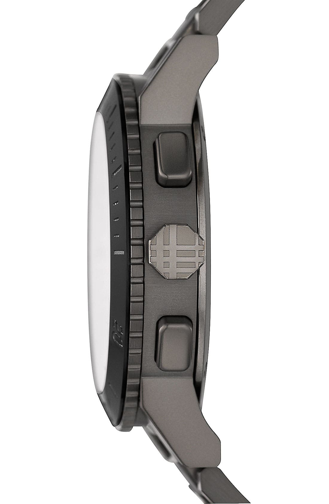 Alternate Image 2  - Burberry Check Stamped Bracelet Watch, 42mm