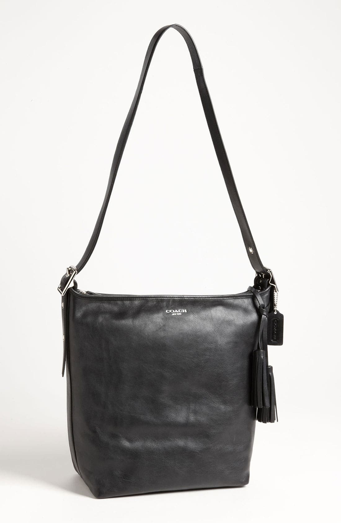 Alternate Image 1 Selected - COACH 'Legacy - Duffle' Tasseled Leather Shoulder Bag