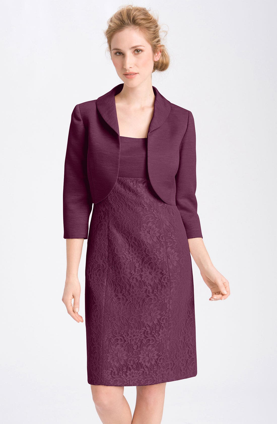 Alternate Image 1 Selected - Tahari Lace Sheath Dress & Jacket