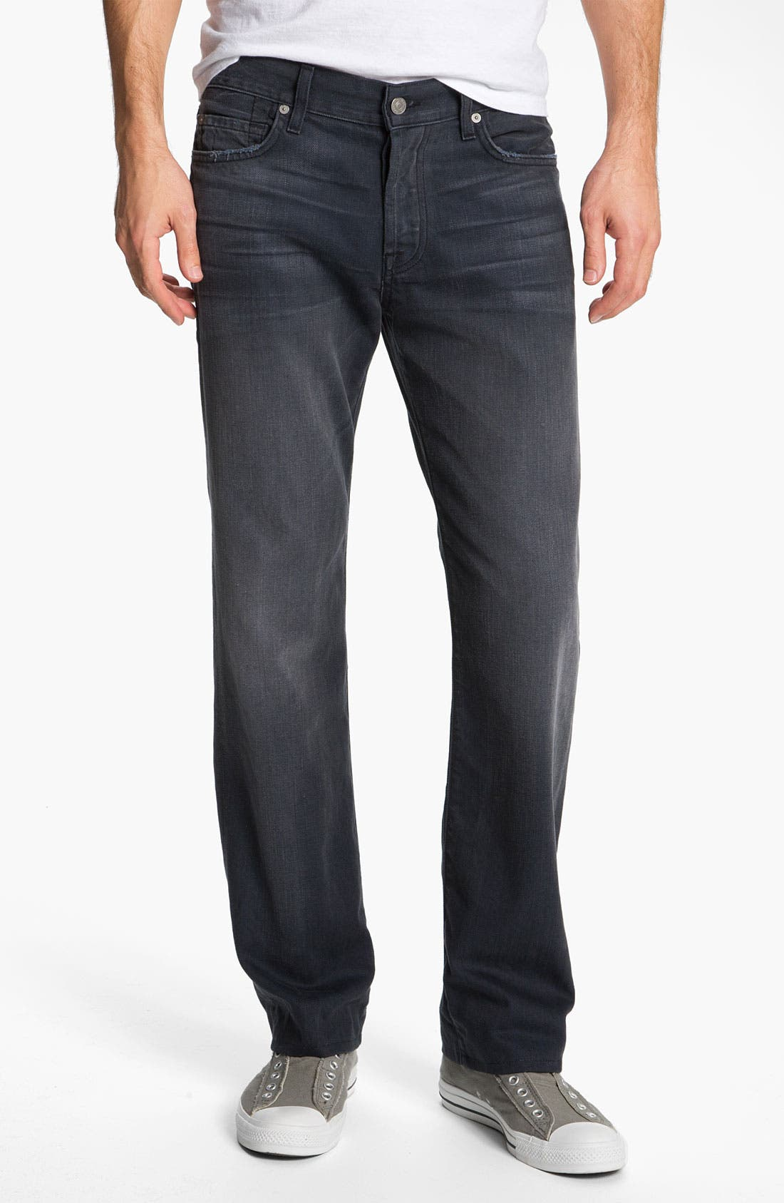 Alternate Image 2  - 7 For All Mankind® Standard Straight Leg Jeans (Grey Harbor)