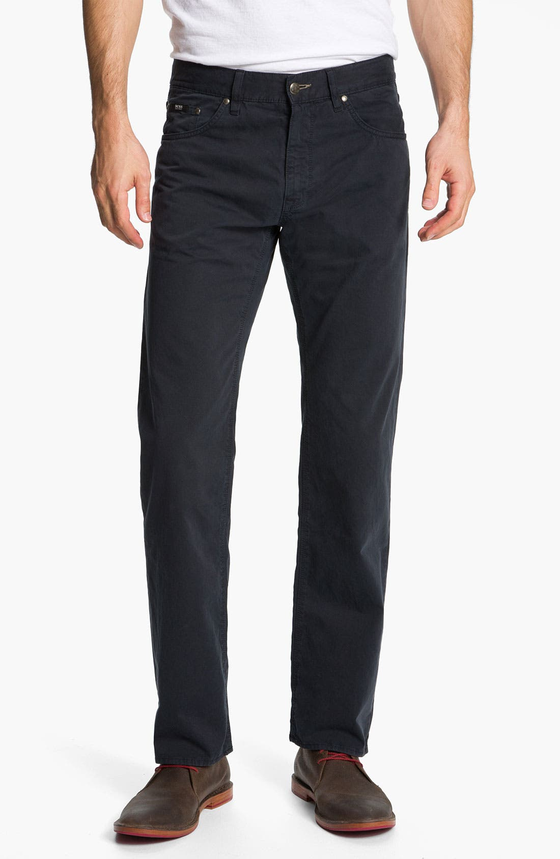 Alternate Image 1 Selected - BOSS Black 'Maine' Five Pocket Pants