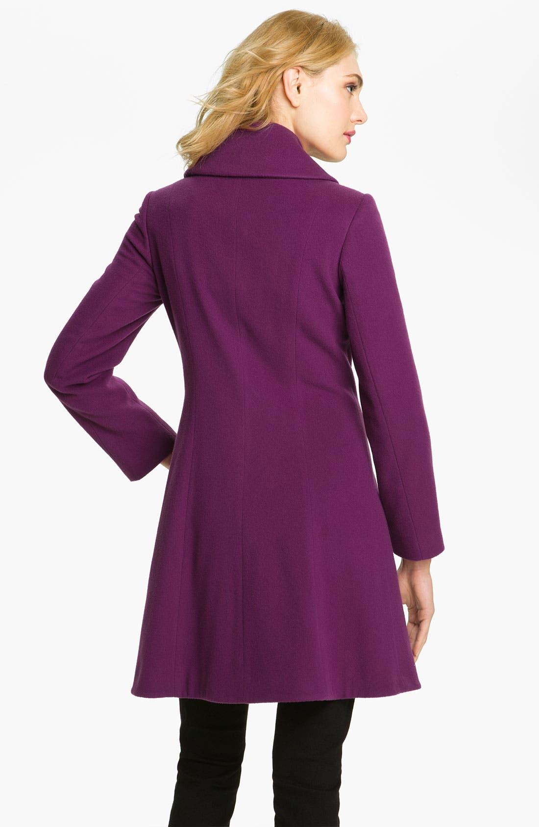 Alternate Image 2  - Helene Berman Ruffle Front Coat