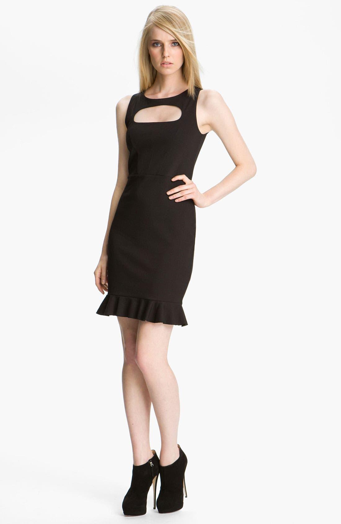 Main Image - M Missoni Cutout Detail Ponte Knit Dress