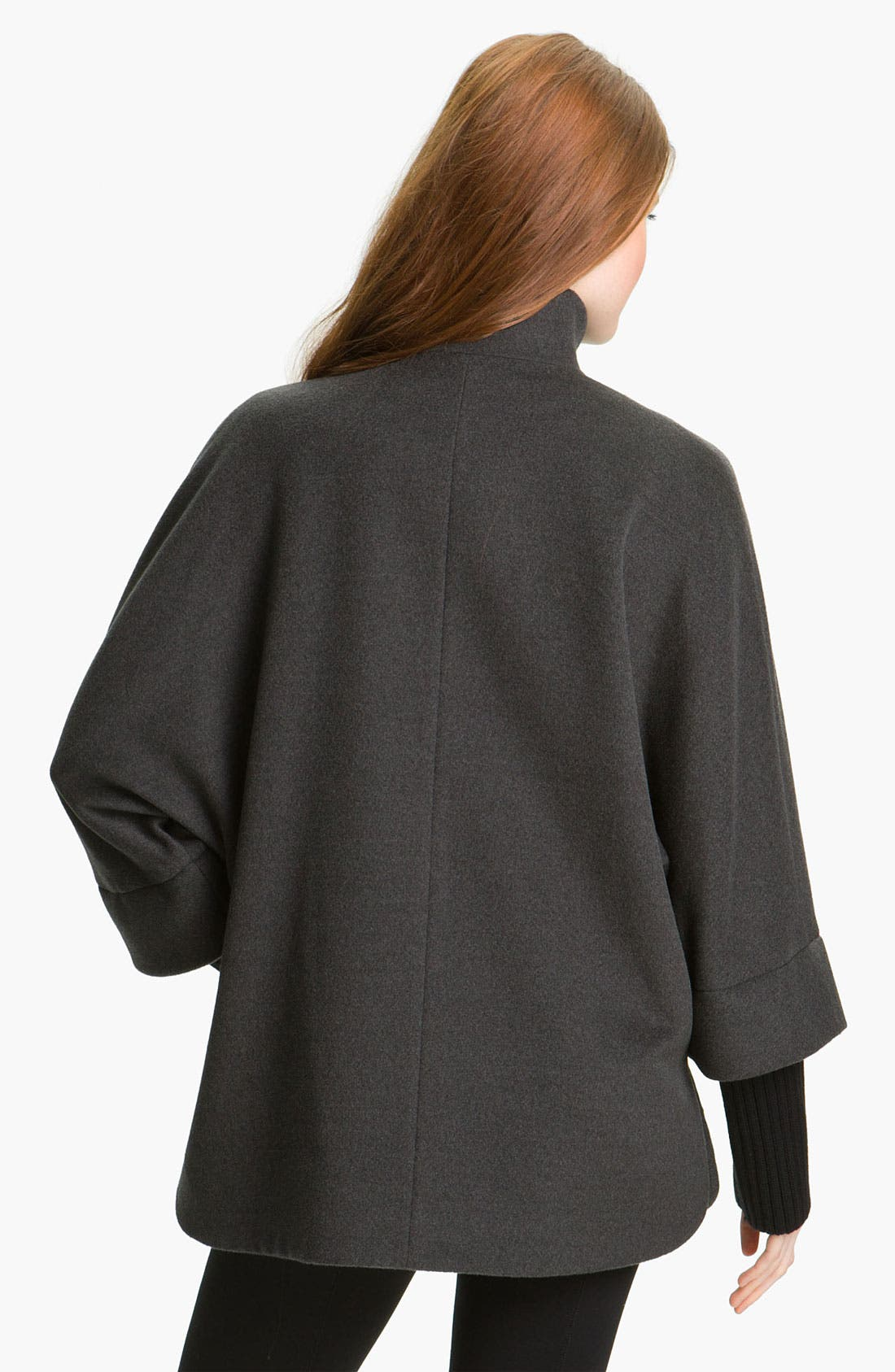 Alternate Image 2  - Cinzia Rocca Knit Sleeve Wool Capelet
