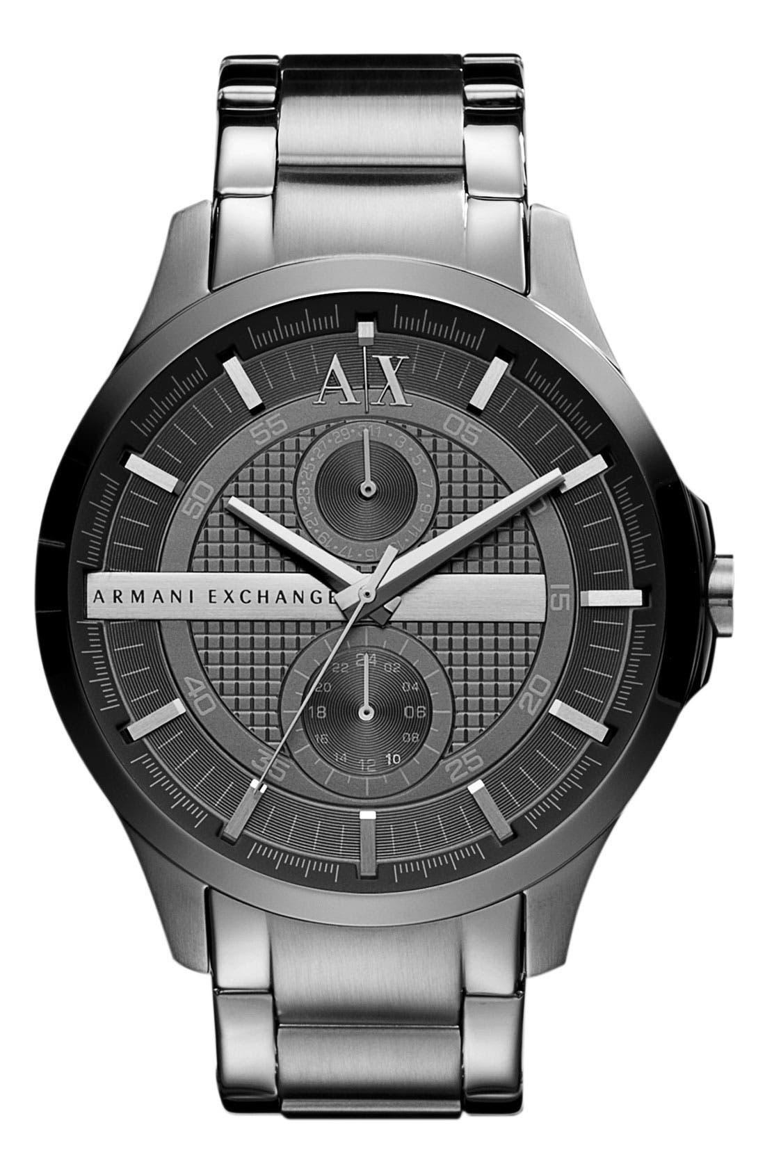 Main Image - AX Armani Exchange Round Bracelet Watch, 46mm