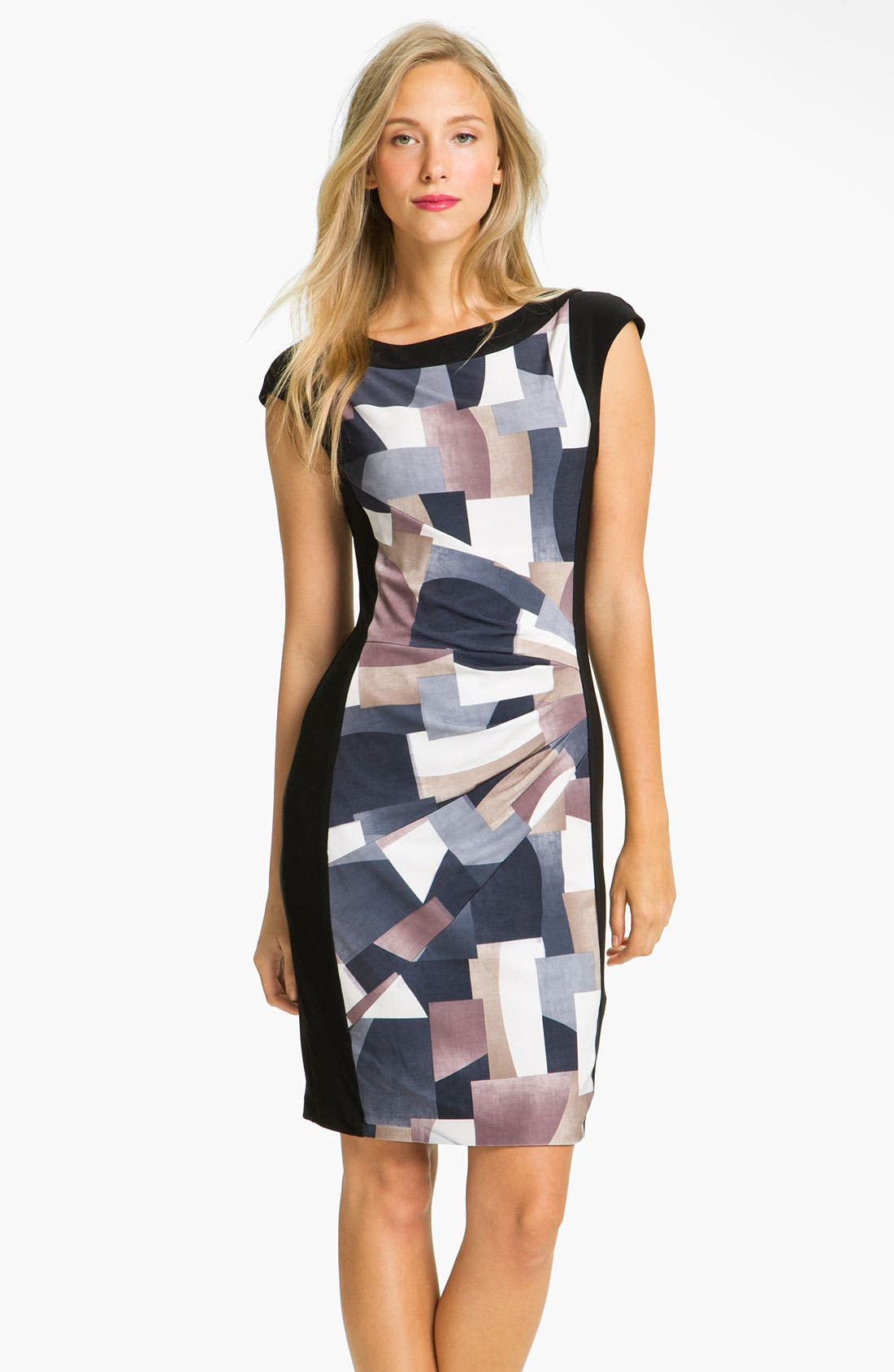 Main Image - Alex & Ava Front Print Panel Jersey Dress