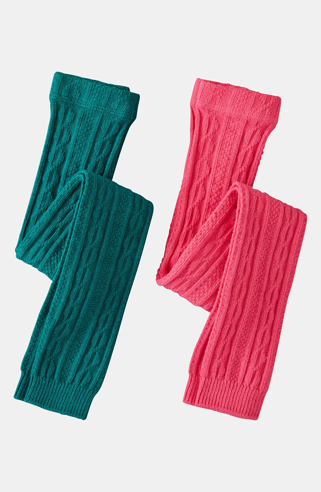 Main Image - Mini Boden Footless Tights (2-Pack) (Little Girls & Big Girls)