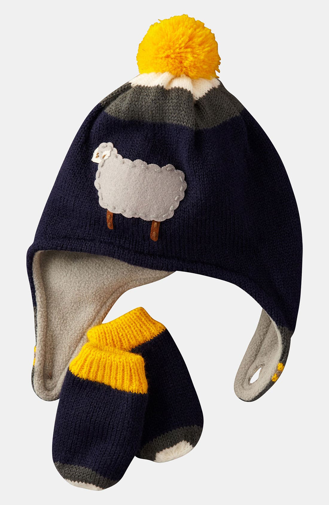 Main Image - Mini Boden Hat & Mittens (Infant & Toddler)
